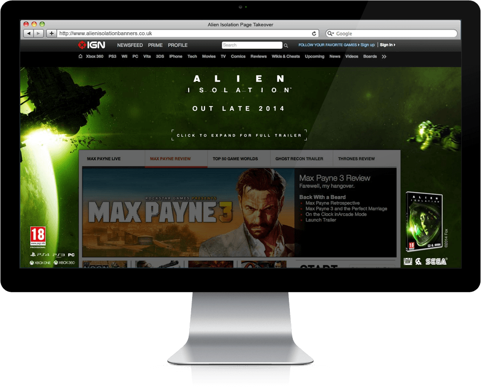 Alien Isolation - Banner Ads