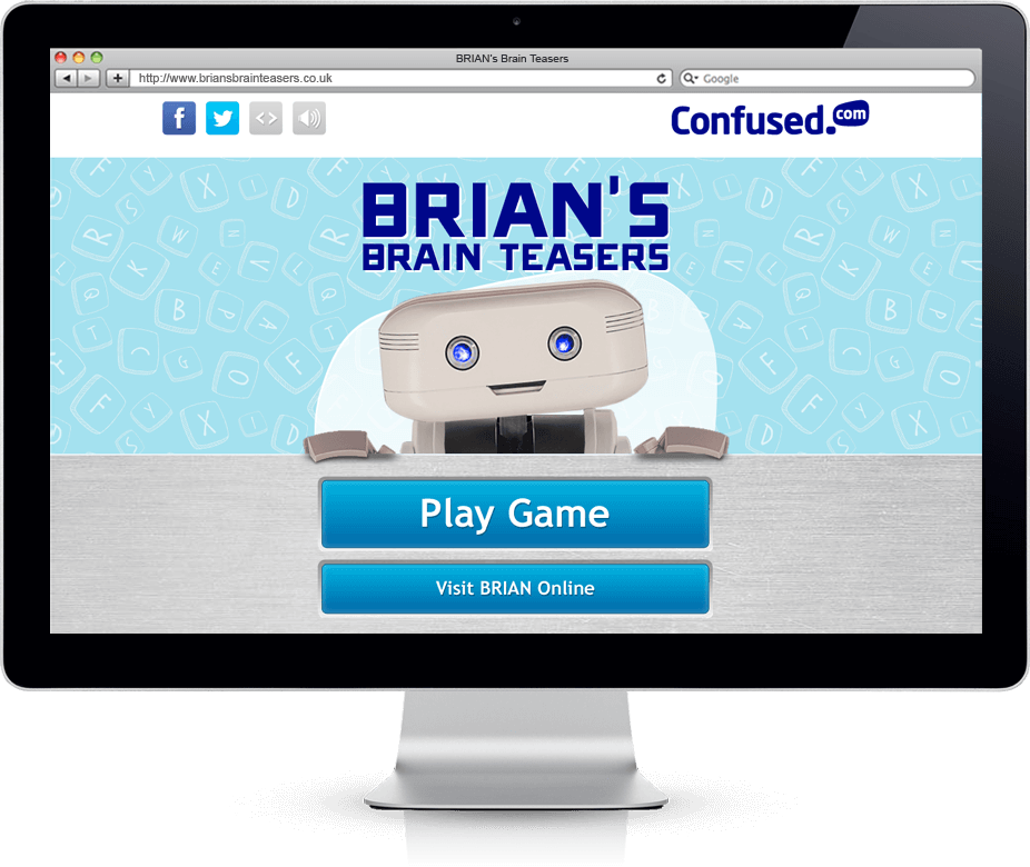 Brian's Brain Teasers - HTML5, Social App, Mobile Game