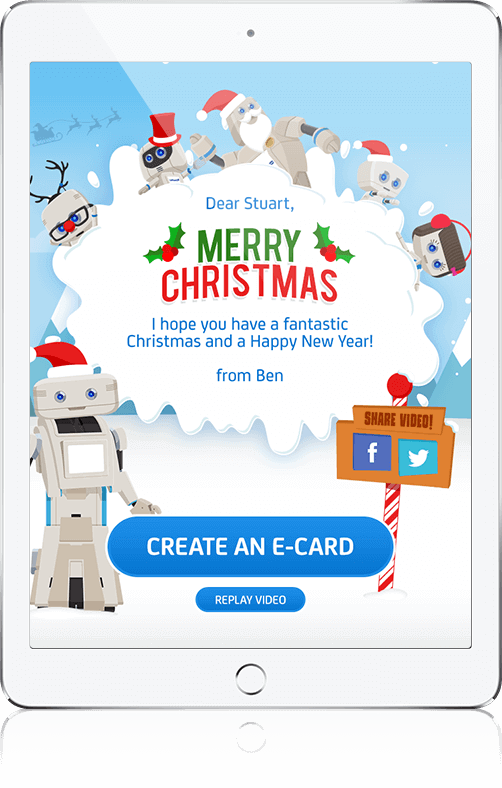 Christmas E-Card - HTML5, Cross Platform, Social App
