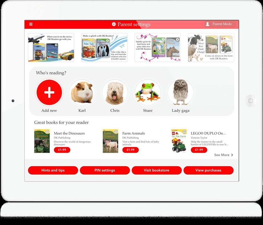 DK Readers - iOS App, Android App, Cross Platform