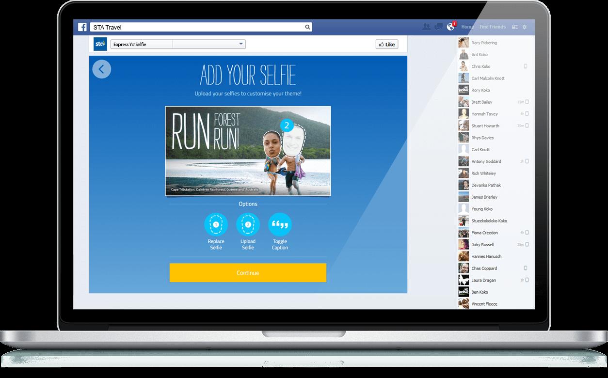 Express Yo'Selfie - Responsive, Facebook, Social App