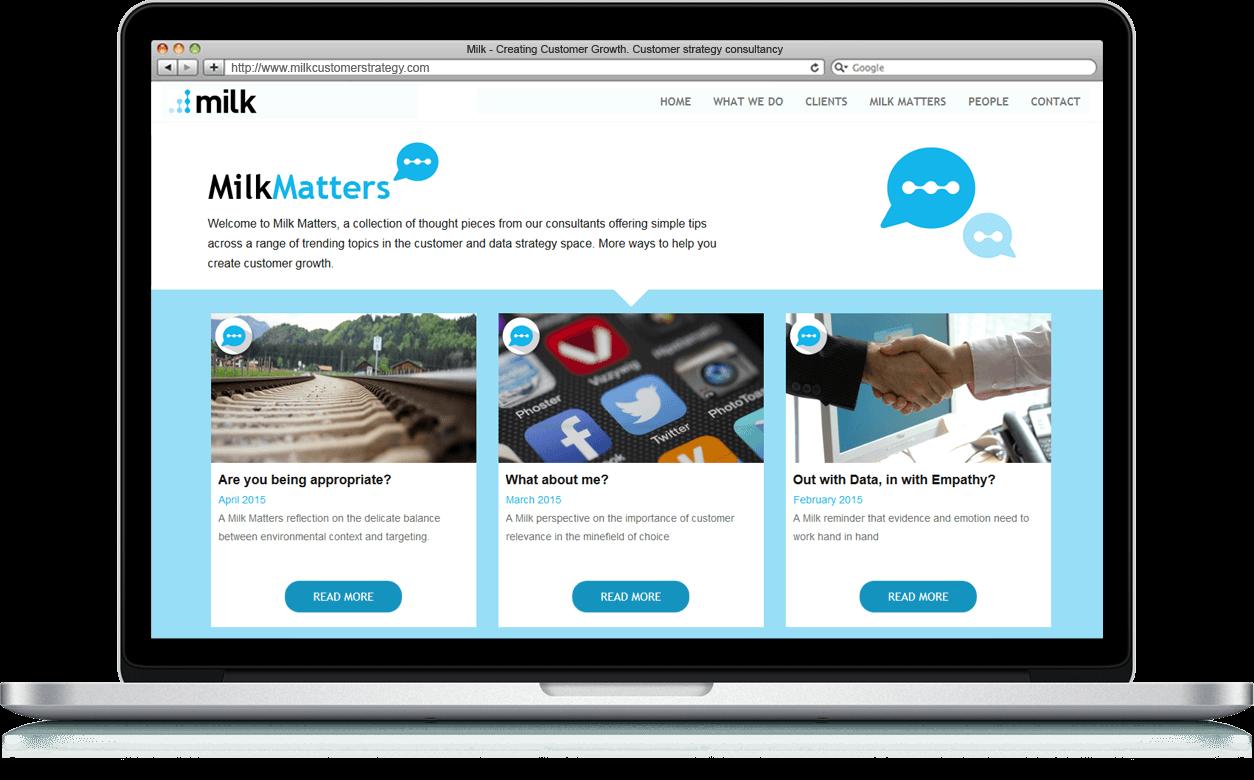 Milk Online - Website, Microsite, Cross Platform