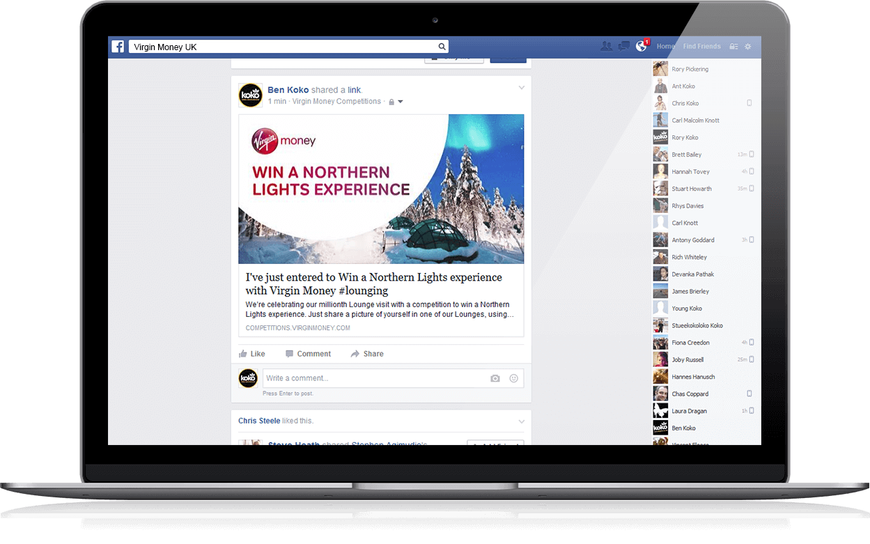 Northern Lights Experience - Competition, Facebook, Social App