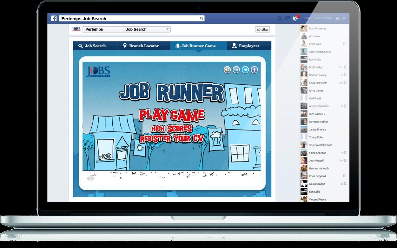 Pertemps Online - Website, Facebook, Viral Game