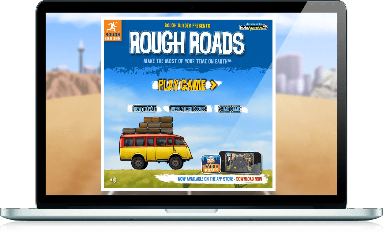 Rough Roads - iOS App, Viral Game
