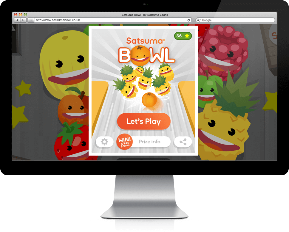 Satsuma Bowl - HTML5, Cross Platform, Branded Games