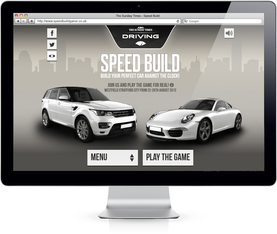 Speed Build - HTML5, Microsite, Competition
