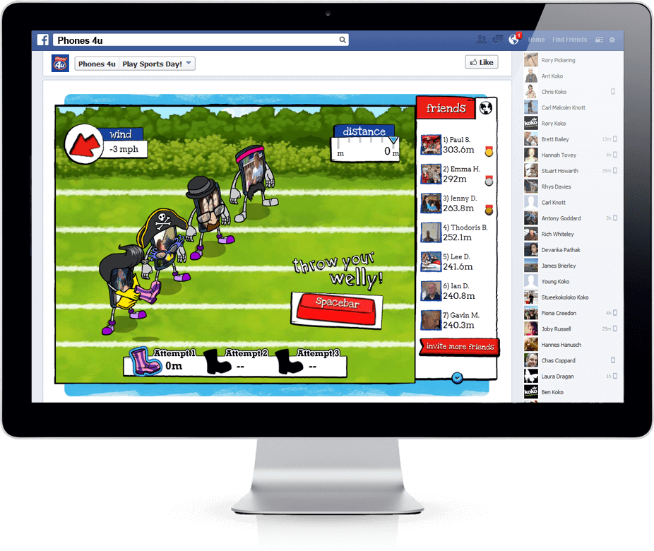 Sports Day - Facebook, Viral Game, Competition