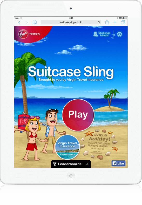 Suitcase Sling - HTML5, Branded Games, Facebook