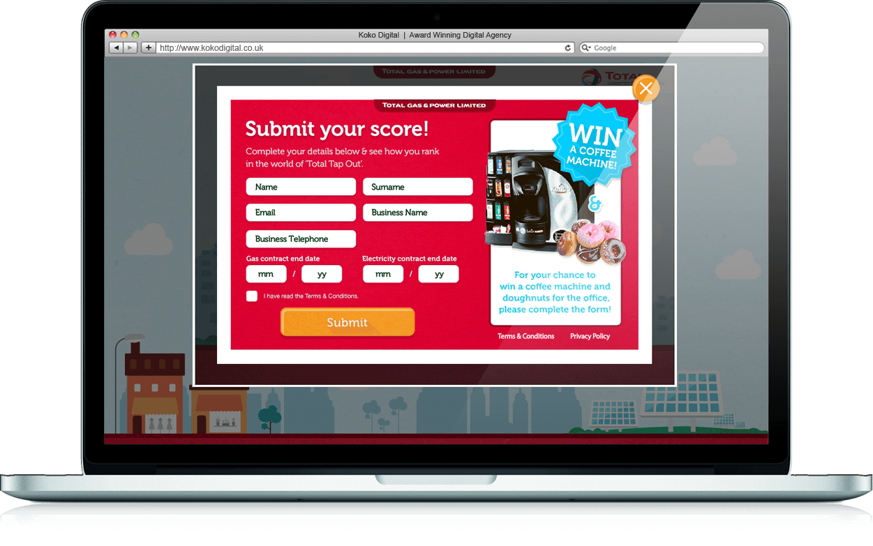 Total Tap Out - Branded Games, Competition, Microsite