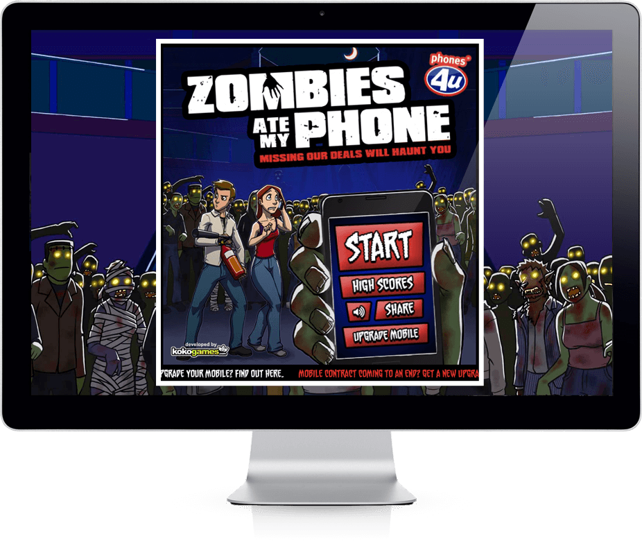 Zombies Ate My Phone - Competition, Facebook, Viral Game