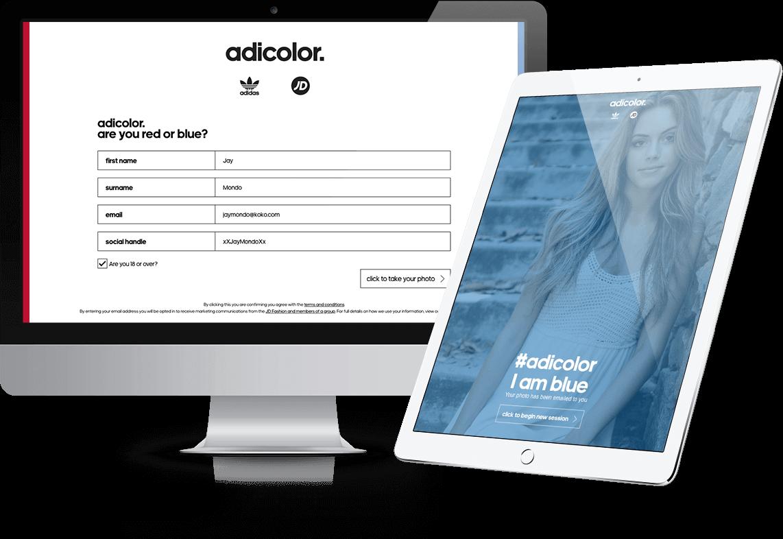 Adicolor - Red or Blue? - Responsive, Microsite, HTML5