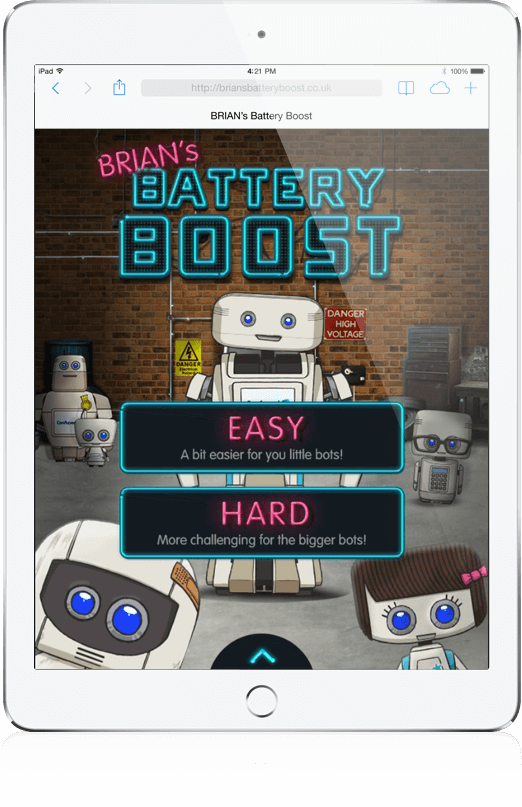 BRIAN's Battery Boost - HTML5, iOS App, Mobile Game