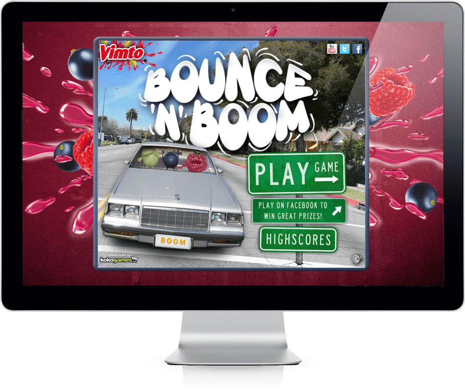 Vimto: Bounce 'n' Boom - Mobile Game, Facebook, Viral Game