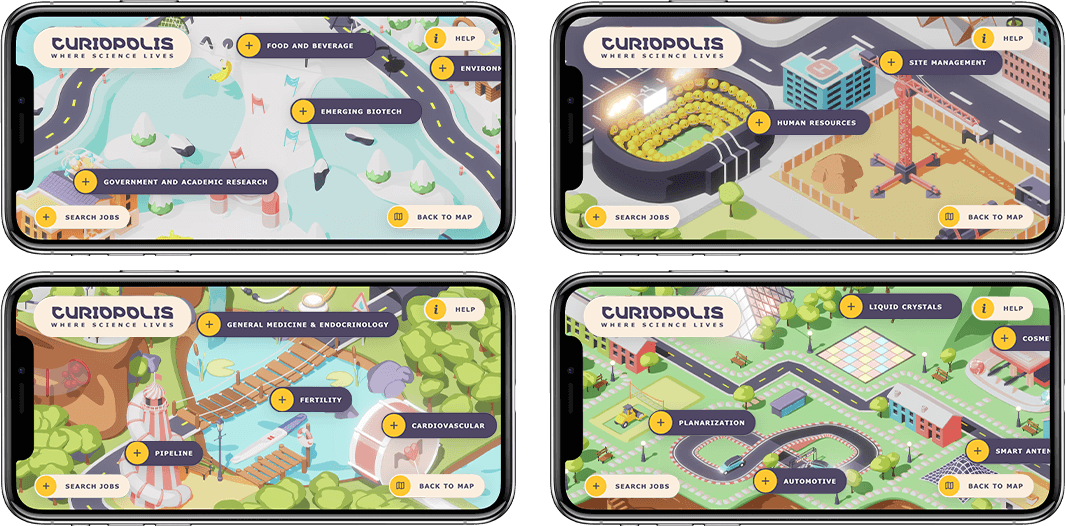 Curiopolis - Digital Marketing, Microsite, Educational Game