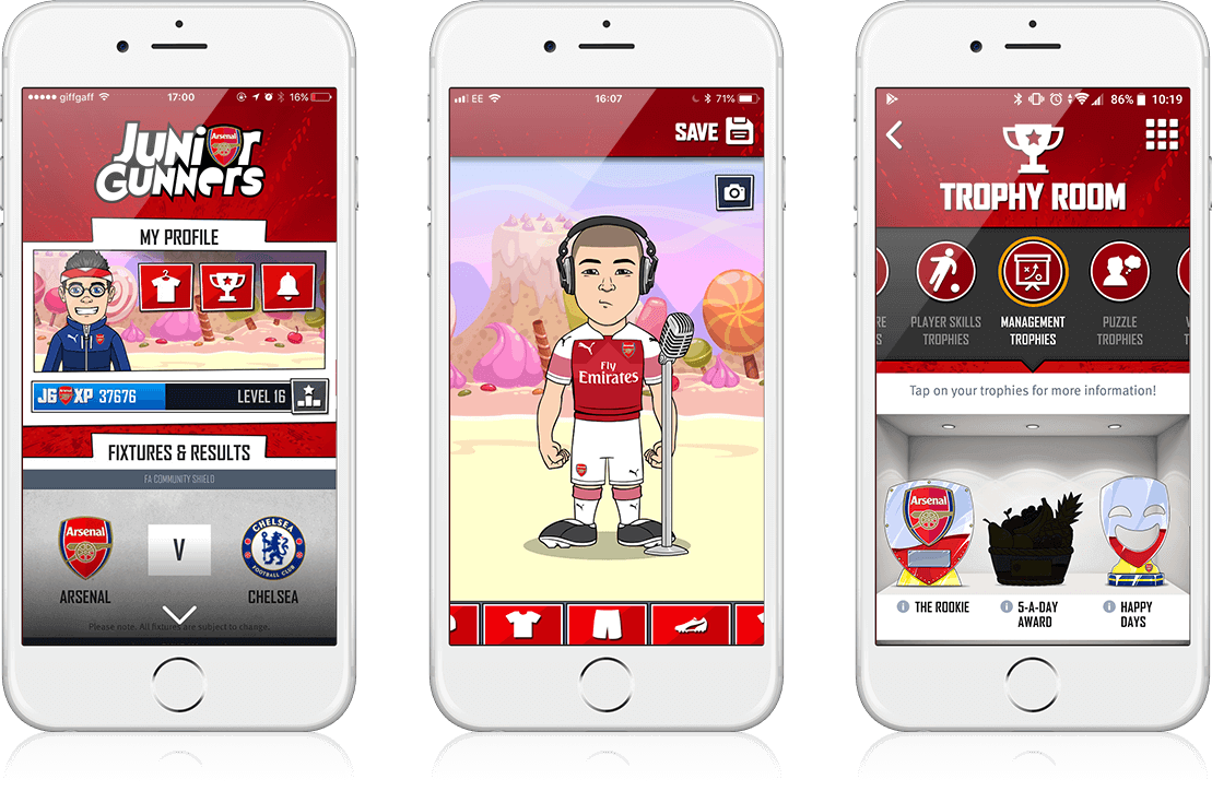 Junior Gunners Summer '18 Release - Youth Engagement, Gamification, Mobile App