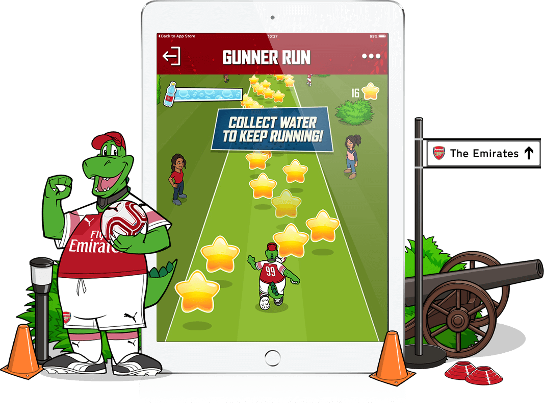 Junior Gunners - Youth Engagement, Gamification, Mobile App
