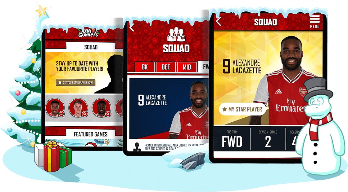 Junior Gunners Christmas '19 - Youth Engagement, Gamification, Mobile App