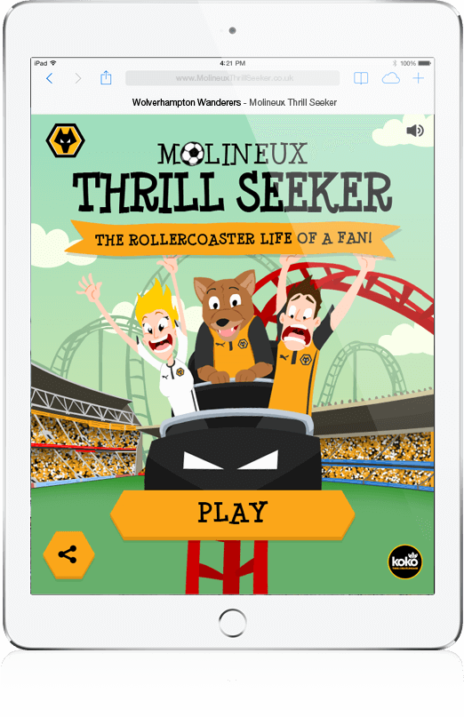 Molineux Thrill Seeker - HTML5, Mobile Game, Cross Platform