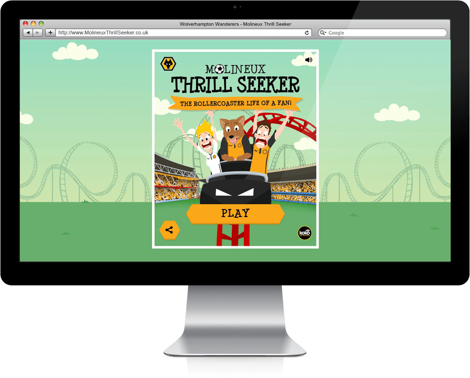Molineux Thrill Seeker - HTML5, Mobile Game, Cross Platform