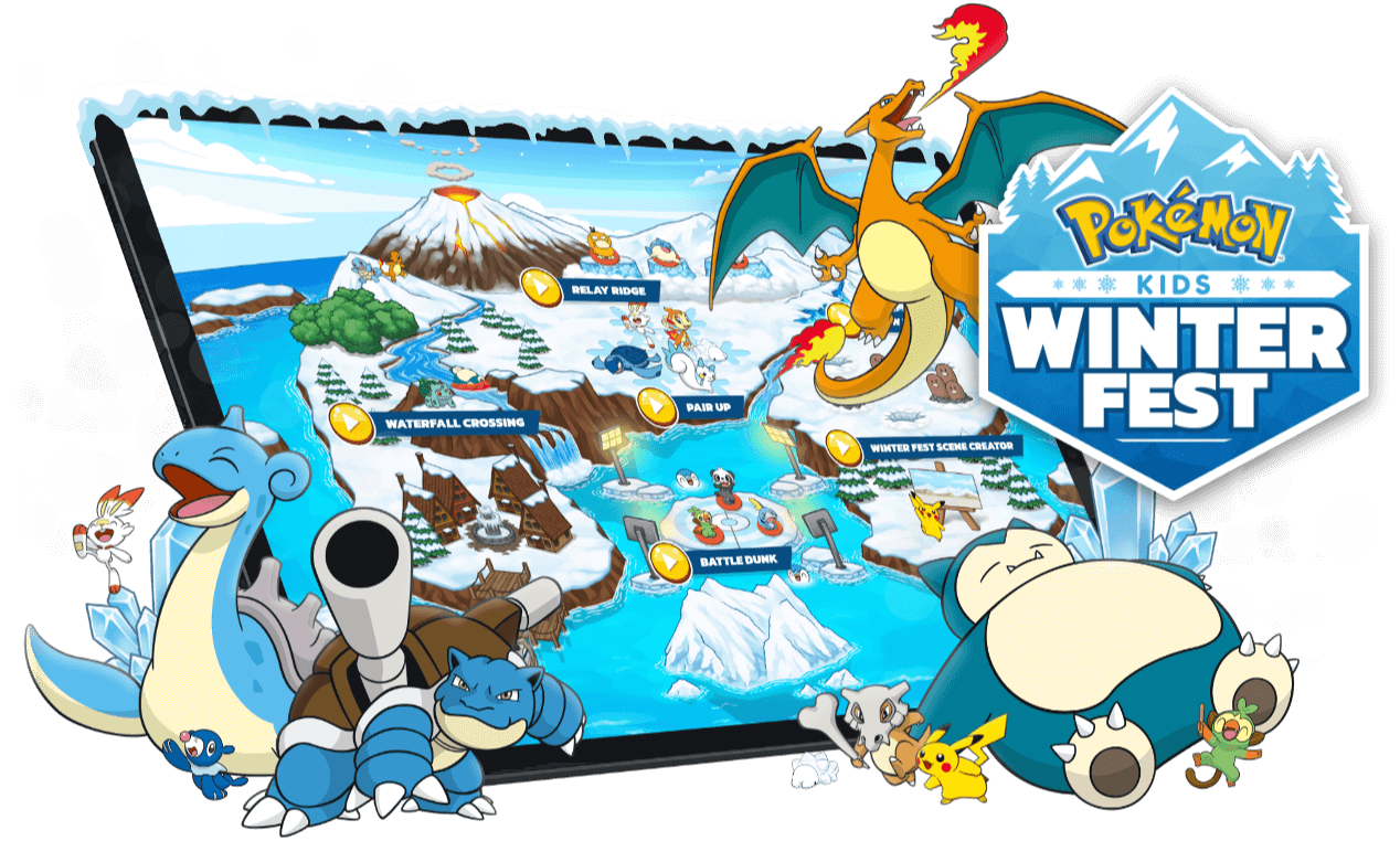 Pokémon: Kids Winter Fest - Browser Game, Web App, Youth Engagement