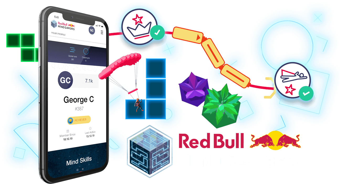 Red Bull Mind Gamers - Gamification, Web App, Social App