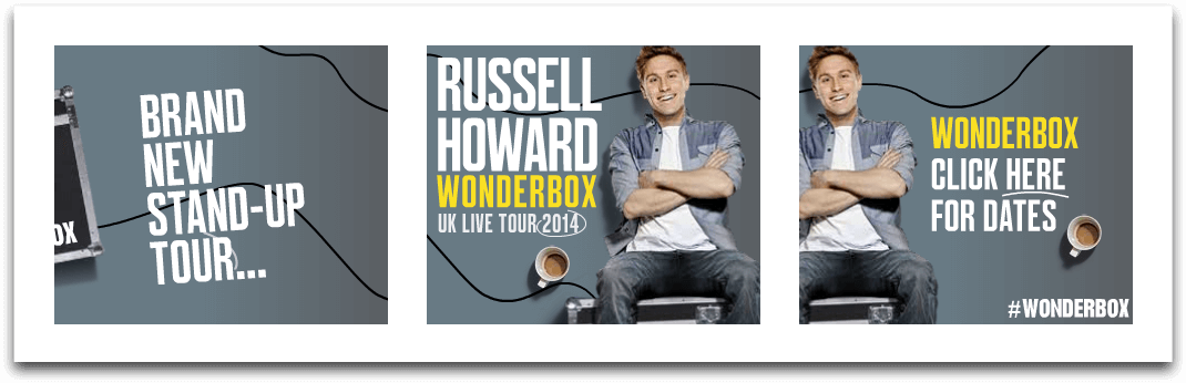 Russell Howard - Banner Ads