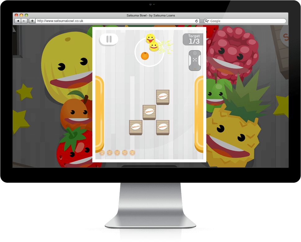 Satsuma Bowl - HTML5, Cross Platform, Branded Games