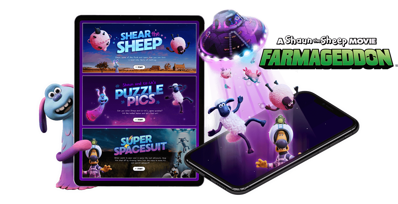 Shaun the Sheep - Branded Games, HTML5, Cross Platform