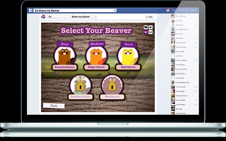 Shave My Beaver - Branded Games, Social App, Facebook