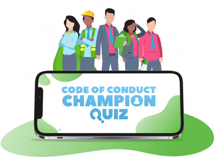 The Code of Conduct Champion Quiz - Educational Game, HTML5, Staff Training