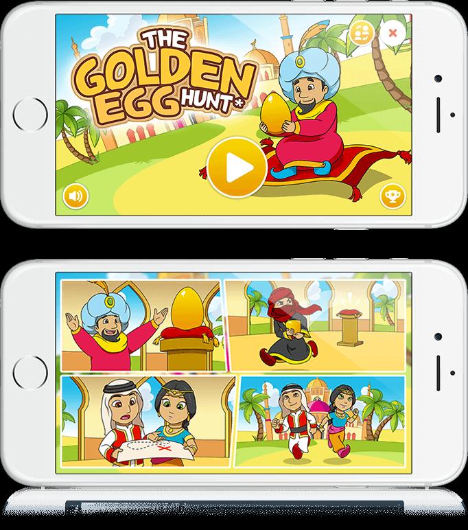 The Golden Egg Hunt - HTML5, Cross Platform, Youth Marketing