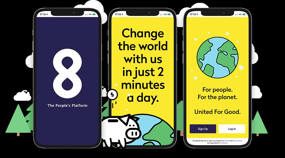 WeAre8 UI Updates - Social App, Digital Marketing, Gamification